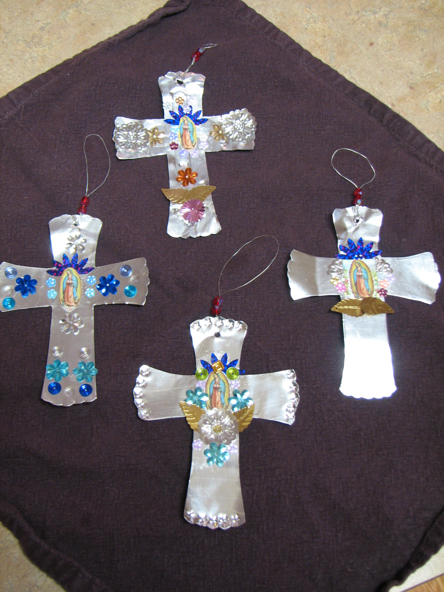 O Night Divine Our Lady Of Guadalupe Tinwork Ornaments