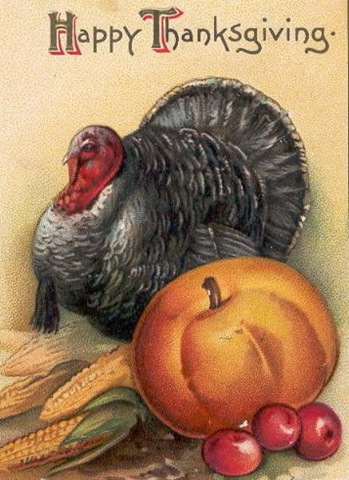 Vintage-thanksgiving-turkey-pumpkin-fruit-clipart