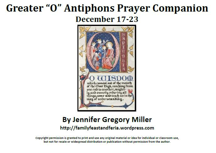 O Antiphons Prayer Companion