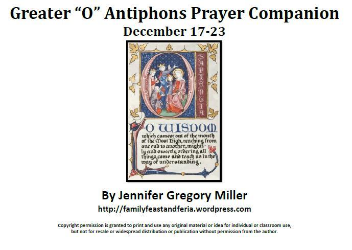 O Antiphons Prayer Companion